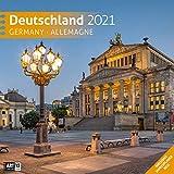 Deutschland 2021, Wandkalender / Broschürenkalender im Hochformat (aufgeklappt 30x60 cm) - Geschenk-Kalender mit Monatskalendarium zum Eintragen