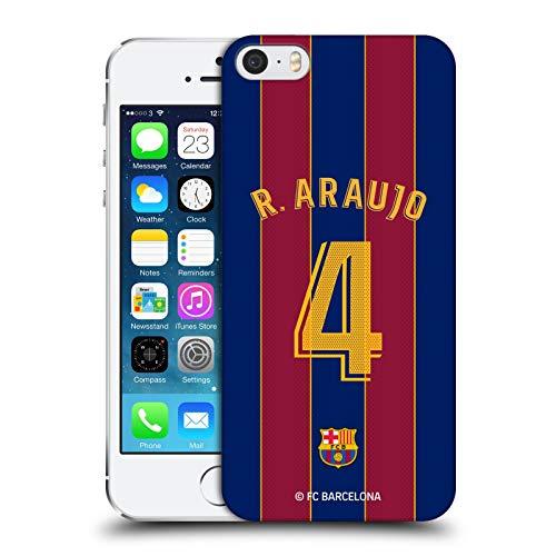 Head Case Designs Licenza Ufficiale FC Barcelona Ronald Araújo 2020/21 Giocatori Home Kit Gruppo 2 Cover Dura per Parte Posteriore Compatibile con Apple iPhone 5 / iPhone 5s / iPhone SE 2016
