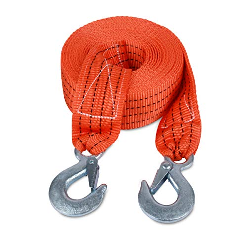 Great Deal! JCHL Tow Strap with Hooks 2in X20Ft Recovery Strap 10,000LB Break Strengthened Towing Ro...