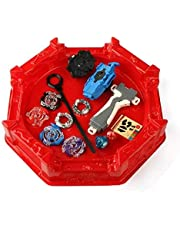 4pcs/set Beyblade Metal Fusion fighting Gyro With Launcher&Arena Stadium Spinning Top Classic Toy