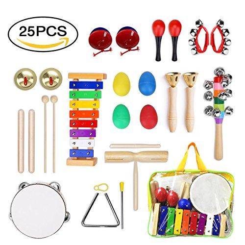 ULIFEME Instrumentos Musicales para Infantil, 25pcs Juguetes