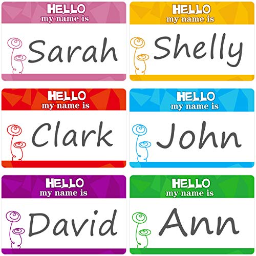 Hello My Name is Name Tag Labels Stickers for Clothing Kids School Supply 200Pcs