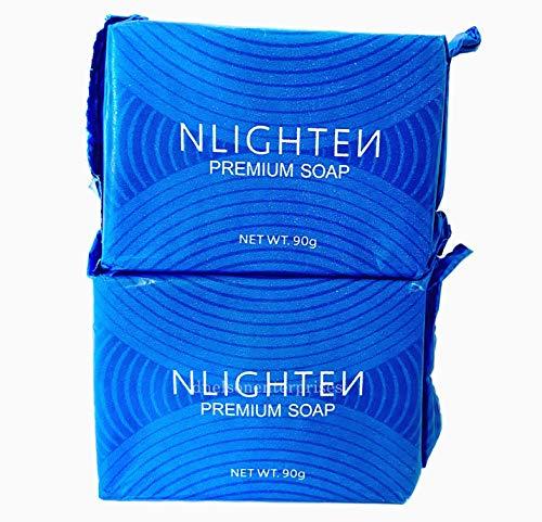2 Pack Nworld Nlighten Premium Nourishing Bar with Collagen, Argan Oil & Aloe Vera, 90g