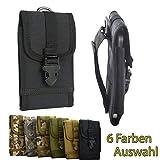 ikracase Outdoor Hülle für Caterpillar CAT S61 Smartphone Gürteltasche Handy-Hülle Tasche Hülle Cover Holster in Schwarz