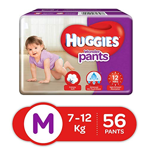 Huggies Wonder Pants Medium Size Diapers( 56 Count)