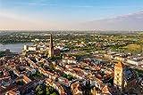 Rostock City Skyline Art XXL Wandbild Kunstdruck Foto