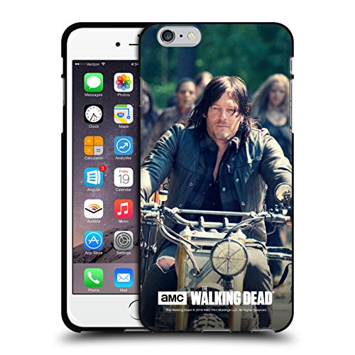Oficial AMC The Walking Dead Paseo En Bicicleta Daryl Dixon Funda de Gel Negro Compatible con Apple iPhone 6 Plus/iPhone 6s Plus