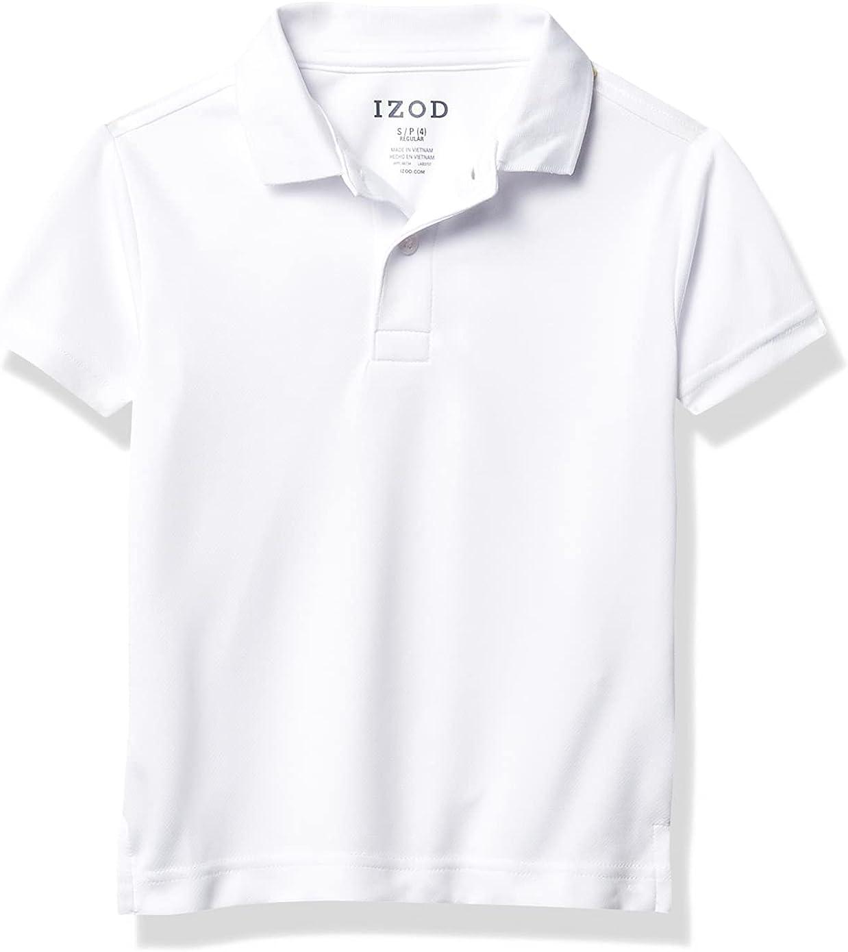 IZOD Boys' School Uniform Performance Short Sleeve Solid Polo