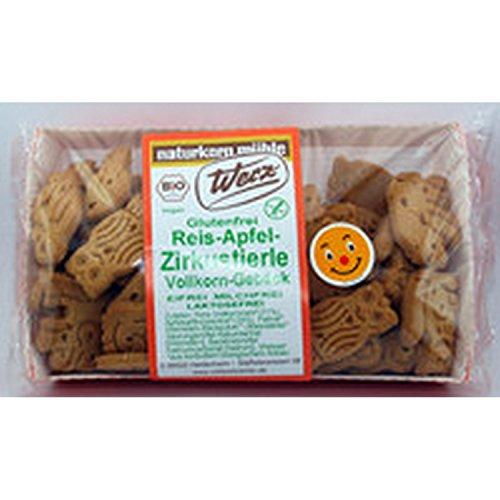 Werz Reis-Apfel-Zoo glutenfrei, 1er Pack (1 x 150 g Packung) - Bio