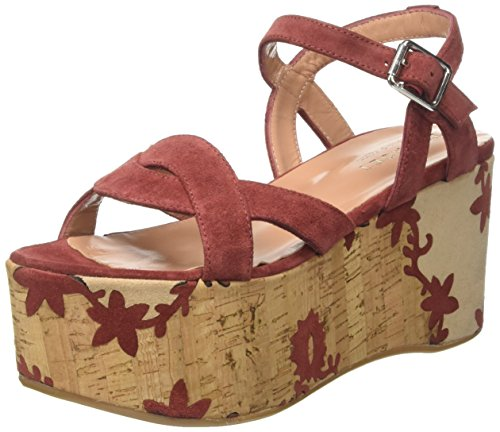Twin Set CS7TUS, Sandali con Piattaforma Donna, Multicolore (Red Sand), 40 EU