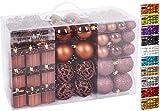 BRUBAKER 101-piezas de Bolas de Navidad con Copas de árboles Color marrón