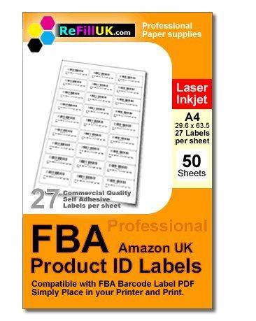 50 sheets A4 FBA Barcode labels....