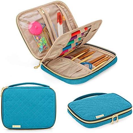 YARWO Crochet Hook Case Travel Organizer Holder for Crochet Hooks Circular Knitting Needles product image