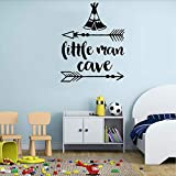 Waofe Kinderzimmer Inspirierend Zitat Wandaufkleber Little Man Cave Wandtattoos Baby Kinderzimmer Wandpapier Für Zuhause Wandtattoos 42 * 52Cm