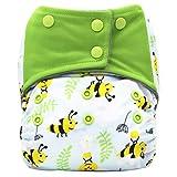 Bebé Pañales de natación Lavable Bañador ajustable Pañal,Swim Diaper Baby Infant Snap Absorbente Lavable Swimsuit Pañal Reutilizable Swim Pañal Para Niñas