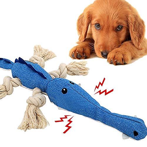 Hundespielzeug Intelligenz Interaktives, Stabiles Quietschend Hundespielzeuge mit Seil Intelligenz Training Tier Spielzeug für große und kleine Hunde