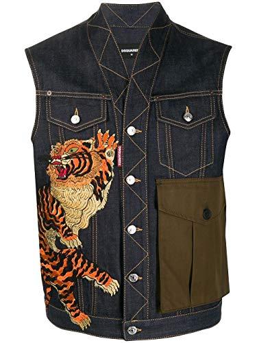DSQUARED2 Luxury Fashion Heren S71FB0379S30309470 Blauw Vest | Lente zomer 20