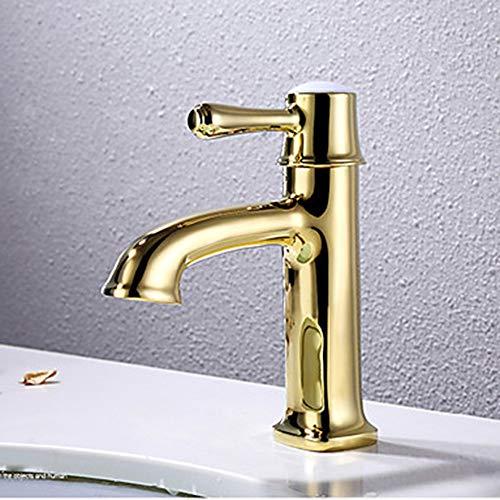 LCSD Wasserhahn Waschbecken Wasserhahn - Breite Ti-PVD-Centerset EIN Griff EIN LochBad Wasserhahn