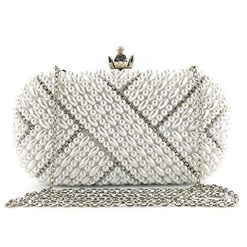 JTCT damestas voor dames, motief: vrouw van banchetto van de jurk van Sera Pochette Sposa Pearl Evening Bag Handgemaakt door vrouw in Rilievo Messenger Bags