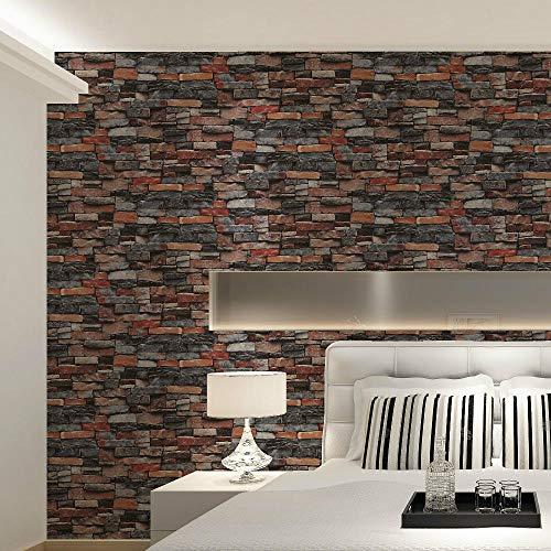Vintage glad behang klassieke imitatie baksteen behang industriële stijl achtergrond muur kleding winkel bar Cafe behang Rood