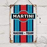 Martini Racing Replik Vintage Blechschild Metallschild