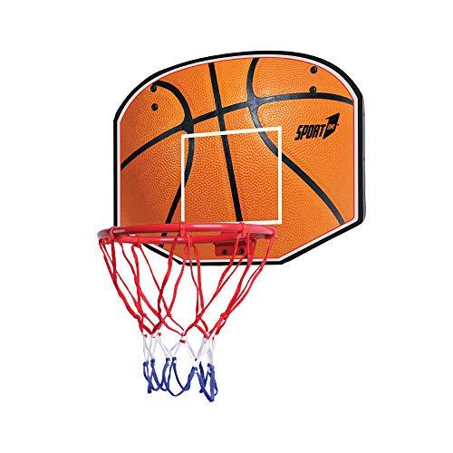 Canestro Basket Pallacanestro Tabellone Bambino Adulto Basket Giardino Giochi all Aperto e Interno per Bambini con Palla e Pompa Inclusa 48,5X37CM