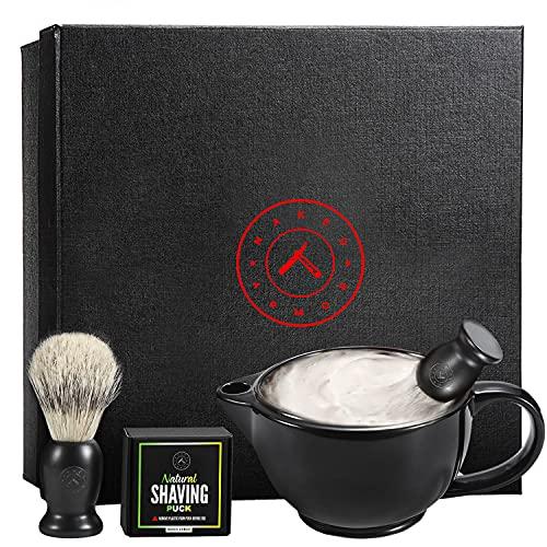 Savanna Shaving Scuttle Mug Kit - Shaving Bowl With Shave Soap, Shave...