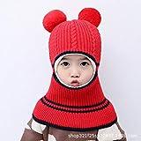 Xme Herbst- und Wintermädchenhut, 2-3-5 Jahre Alter winddichter, einteiliger Hut, Warmer Kinderschal