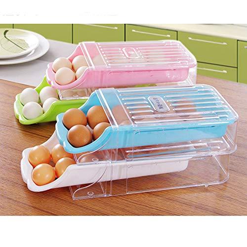 Egg Holder, 1 Pcs Egg Skelter Spiral Design Egg Rack Egg Dispenser Egg Storage Display Holder, Egg Basket Egg Holder for Refrigerator, 12 Eggs