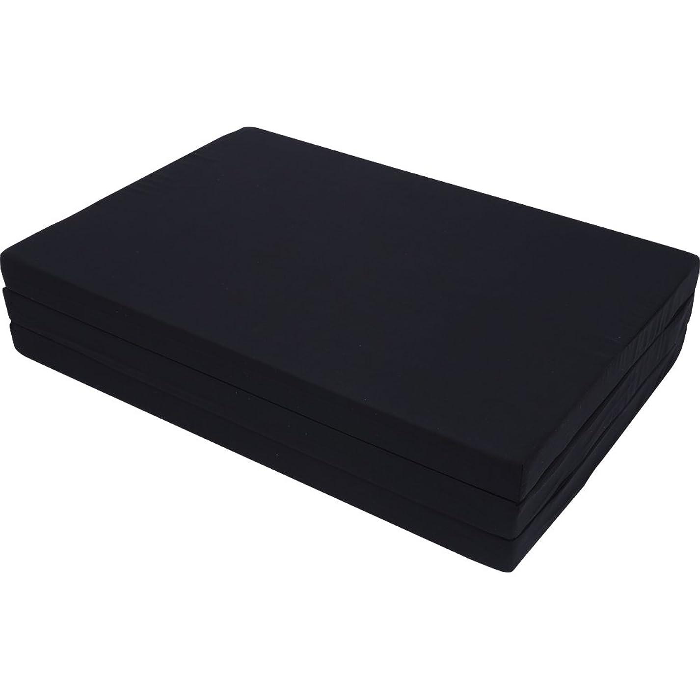 理想的には検出する仕事に行くアイリスプラザ マットレス シングル 三つ折り 厚さ6cm ブラック シングル 80N