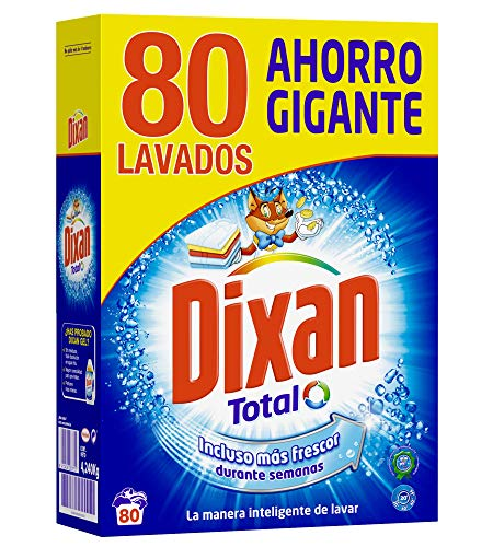 Dixan Detergente Polvo Total 80 Lavados