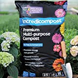 Thompson & Morgan Multipurpose Compost Soil Garden Plants Flowers, Perfect for Potting Up In Pots and Containers, 1 x 25L Bag of Incredicompost