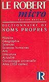 Le Robert micro poche dictionnaire de noms propres... Cartes chronologie