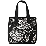 Artecobags Insulated Lunch Bag - Black & White English Garden