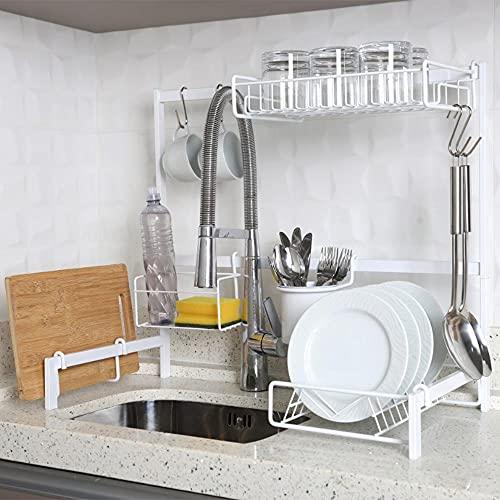 Cozinha Suspensa Modular Autosustentável Escorredor de Pia Sem furos 14 Peças DiCarlo 63cm (Branco)