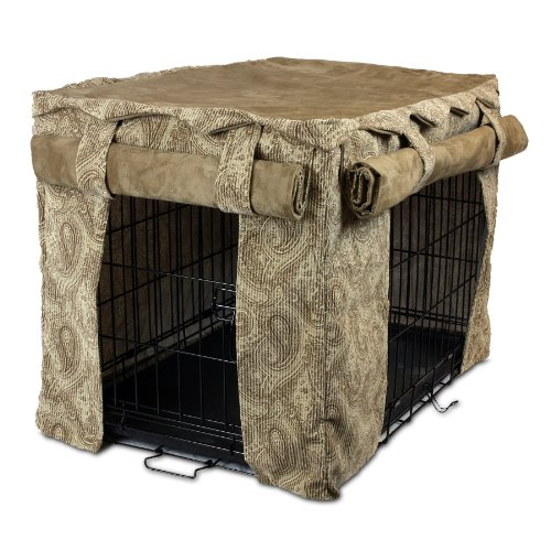 Snoozer Cabana Pet Crate Cover, Large, Sicilly Bone/Peat