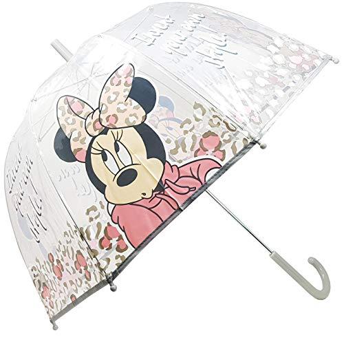 Paraguas Transparente Manual Paraguas Infantil Paraguas Niña Paraguas Minnie Fashion 62cm (Gris)