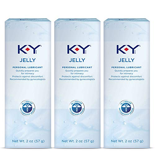 Personal Lubricant, K-Y Jelly Personal Lube,Water Based Lube For Women, Men & Couples 2 Ounce (Pack of 3)