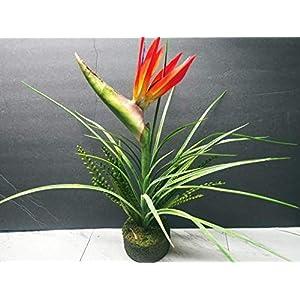 17″ Orange Artificial Bird of Paradise W/O Pot. Silk Flower Arrangements- Artificial Flowers #FWB01YN