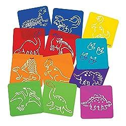 1. Fun Express Dinosaur Stencils for Kids (12pcs)