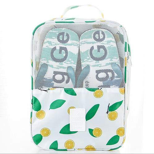 WDM - Zapatillas de viaje para hombre y mujer, bolsa para zapatos, bolsa para zapatos, bolsa de deporte, nailon, impermeable, antipolvo, para zapatos, bolsa para zapatos, 21 x 12 x 30 cm