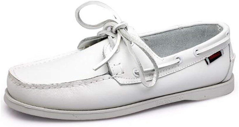 HhGold Außenhandel Große Größe Segeln Schuhe männer Casual Herrenschuhe Lederschuhe Britischen Driving Single Schuhe Männer (Farbe   9075Weiß, Größe   42)  | Fierce Kaufen