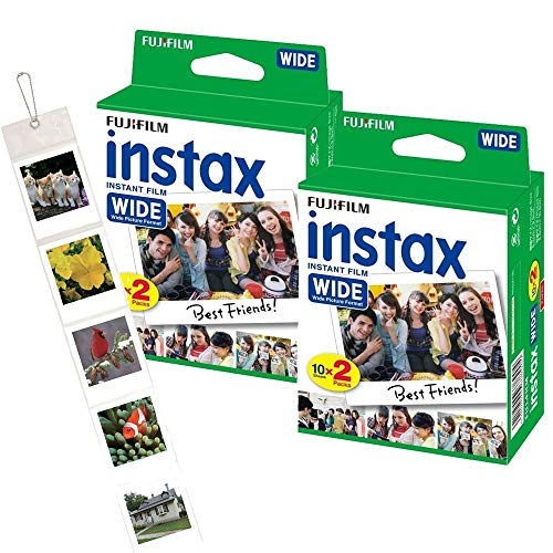 Fujifilm Instax Wide Film Pack (40 Aufnahmen) Plus Wand-Fotoalbum