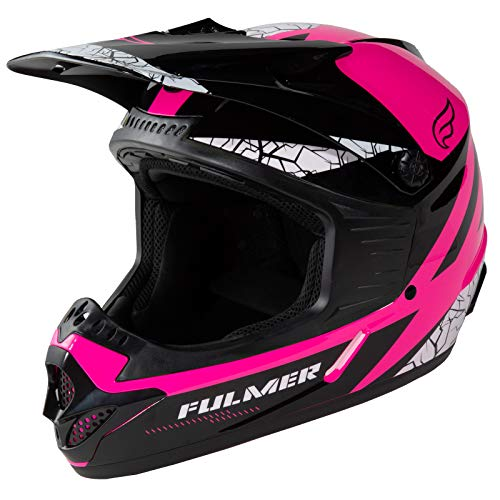 Fulmer 253 FJ2 Youth MX Off-Road Helmet DOT Approved - Pink, Medium