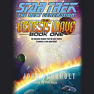 Star Trek, The Next Generation: The Genesis Wave, Book 1 (Adapted) audiobook cover art