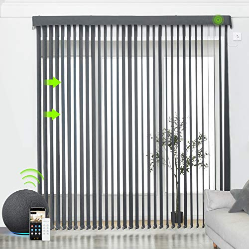 Yoolax Motorized Vertical Blinds Compatible with...