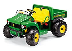 2-Seater tractor with tipping bucket Seat can be adjusted according to the child's growth. Horn. Accelerator and pedal brake Electric-controlled bucket holds up to 10 kg Comes with charger and battery