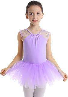 577f8e5ab Freebily Bébé Fille Justaucorps de Danse Classique Tutu Robe Maille Jupe de  Ballet Rose Noir Blanc