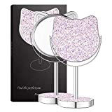 Makeup Mirrors for Teenage Girls,DERUI CREATION Glittering Sequins Vanity Mirror Makeup for Teens Mirror Easter Gifts for Girls(Lilac/Large Size)