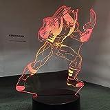 Wfmhra X-Men 3D veilleuse Plaque Acrylique 7 Couleurs changeantes LED Bureau Illusion Lampe de Table pour Enfants fête d'anniversaire décor Cadeaux